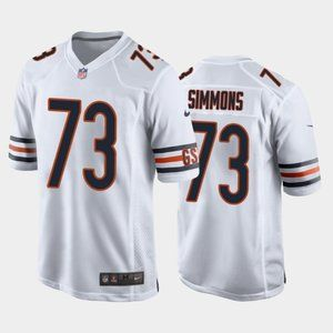 Chicago Bears Lachavious Simmons White Jersey